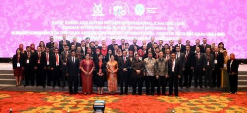 Rapat Komisi Asia Ikatan Notaris Internasional (CAAs UINL) dan Seminar Internasional Ikatan Notaris Indonesia (INI) tanggal 7-8 September 2017 di Bali Nusa Dua Convention Center dibuka oleh Presiden RI Bapak Ir. Joko Widodo