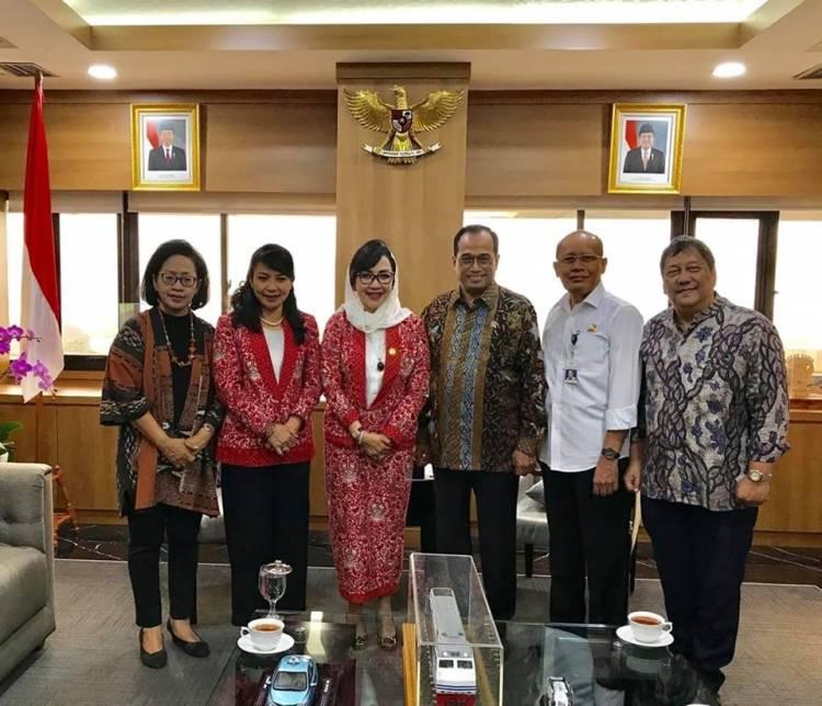 PP INI Beraudiensi dengan Menteri Perhubungan Rep. Indonesia