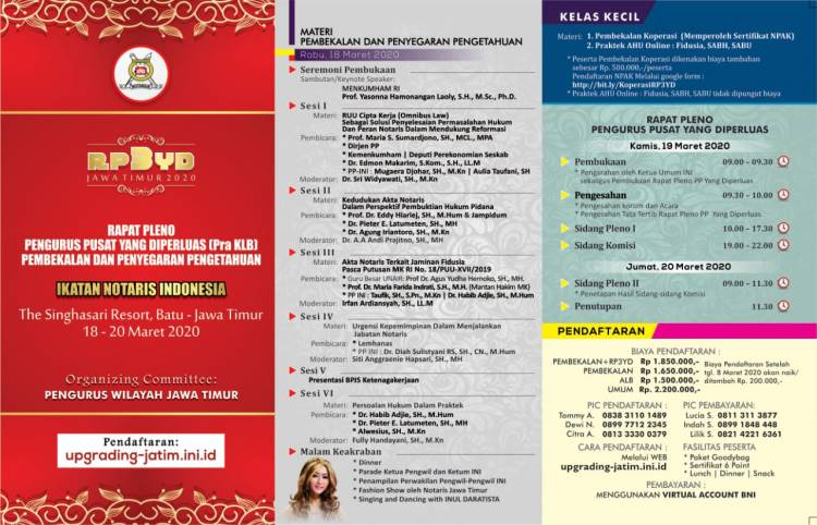 Rapat Pleno Pengurus Pusat Yang Diperluas (Pra Kongres Luar Biasa) - Pembekalan Dan Penyegaran Pengetahuan