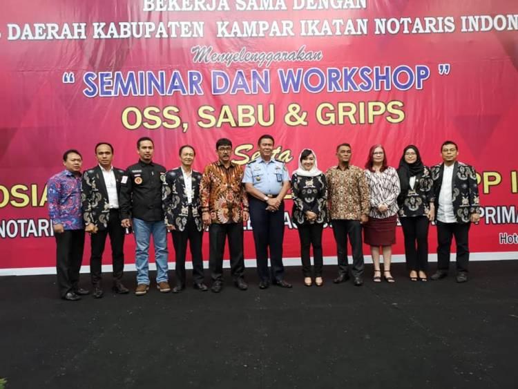 Seminar & Workshop OSS, SABU & GRIPS Pengwil Riau INI