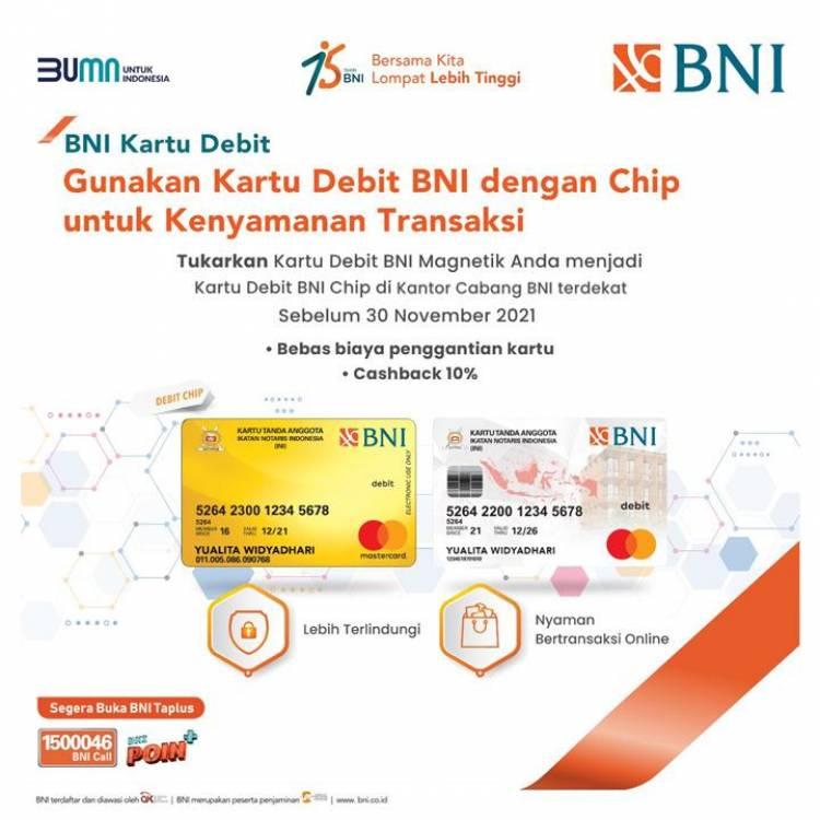 Tukarkan KTA BNI non chip menjadi KTA BNI berchip