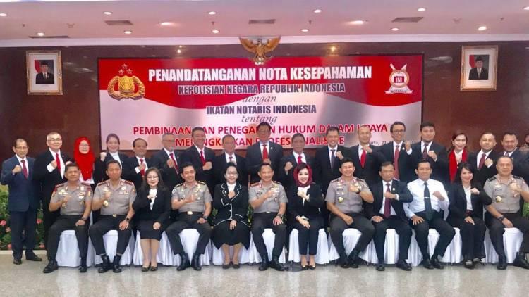 Polri dan Ikatan Notaris Indonesia Perpanjang MoU