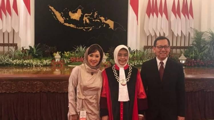 Presiden Saksikan Pengambilan Sumpah Jabatan Hakim MK Pengganti Farida