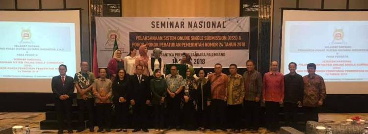 "Seminar Nasional "" Pelaksanaan Sisitem Online Single Submission (OSS) """