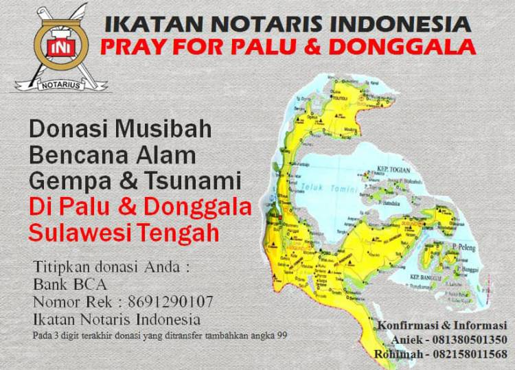 Ikatan Notaris Indonesia Pray For Palu & Donggala