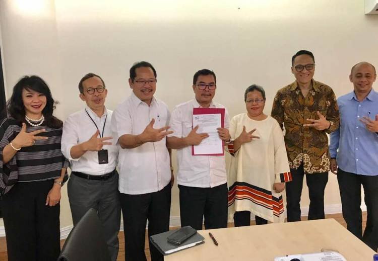 Penandatanganan Berita Acara Penetapan Calon Penerima Fasilitas Pendirian Badan Hukum Ekonomi Kreatif (BEKRAF) 2018