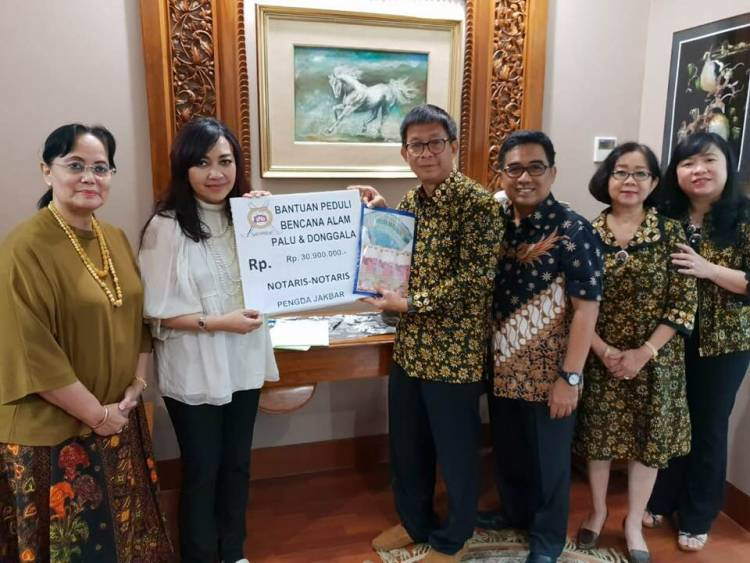 Penyerahan Sumbangan Peduli Palu dan Donggala dari Pengda Jakarta Barat