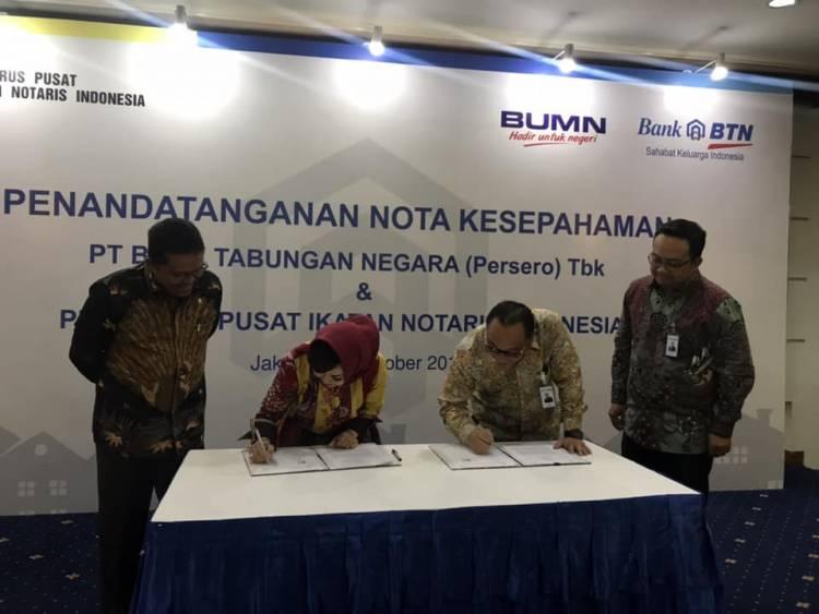 Penandatanganan Nota Kesepahaman Ikatan Notaris Indonesia dan PT Bank Tabungan Negara