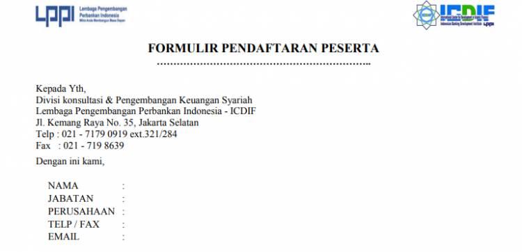 FORMULIR PENDAFTARAN PESERTA 2