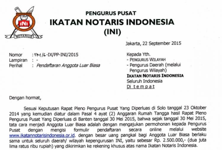 Surat PP tentang pendaftaran ALB