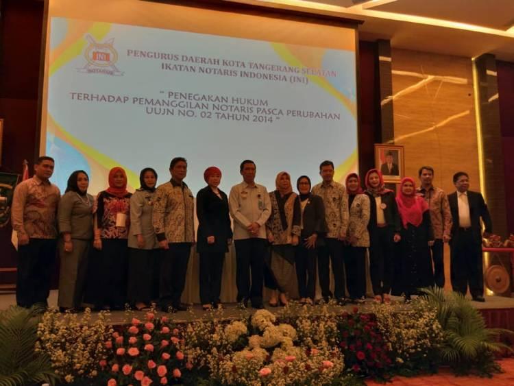 Seminar Penegakan Hukum Terhadap Pemangilan Notaris Pasca Perubahan UUJN No 2 Tahun 2014