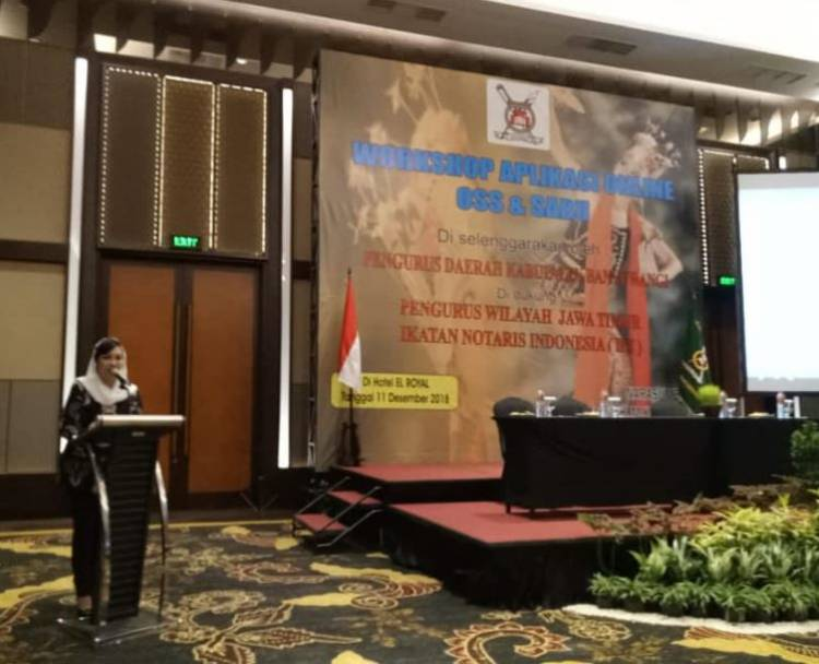 Workshop Aplikasi Online OSS & SABU Pengurus Daerah INI Kabupaten Banyuwangi