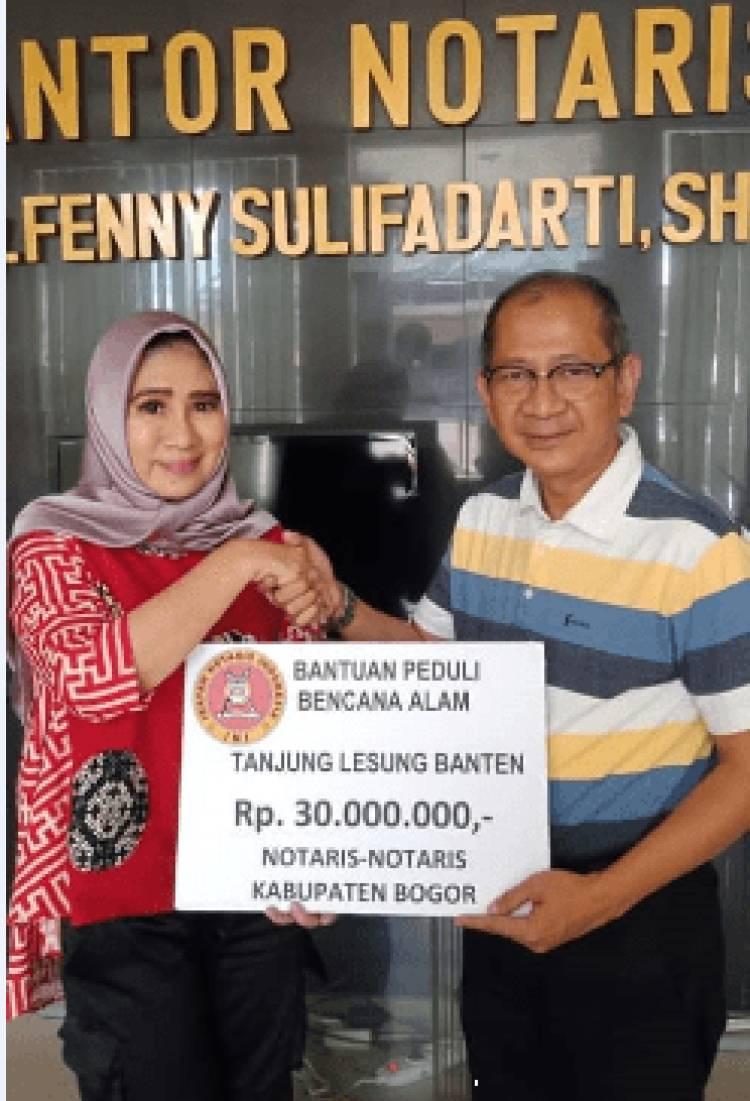 INI Peduli Bencana Alam Banten dan Lampung